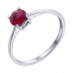Серебряное кольцо с рубином 000117811