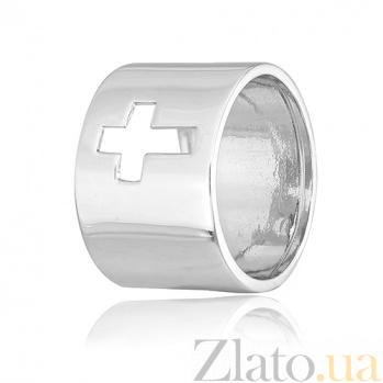 Кольцо из серебра Крестик 000027995