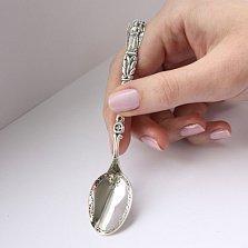 Серебряная чайная ложка Ангел Хранитель