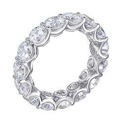 Серебряное кольцо с фианитами 000134293
