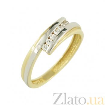 Золотое кольцо с фианитами Виолет 2К304-0038