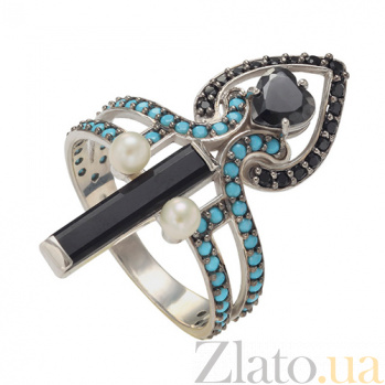 Серебряное кольцо Ночное рандеву Виктория TNG--369549С