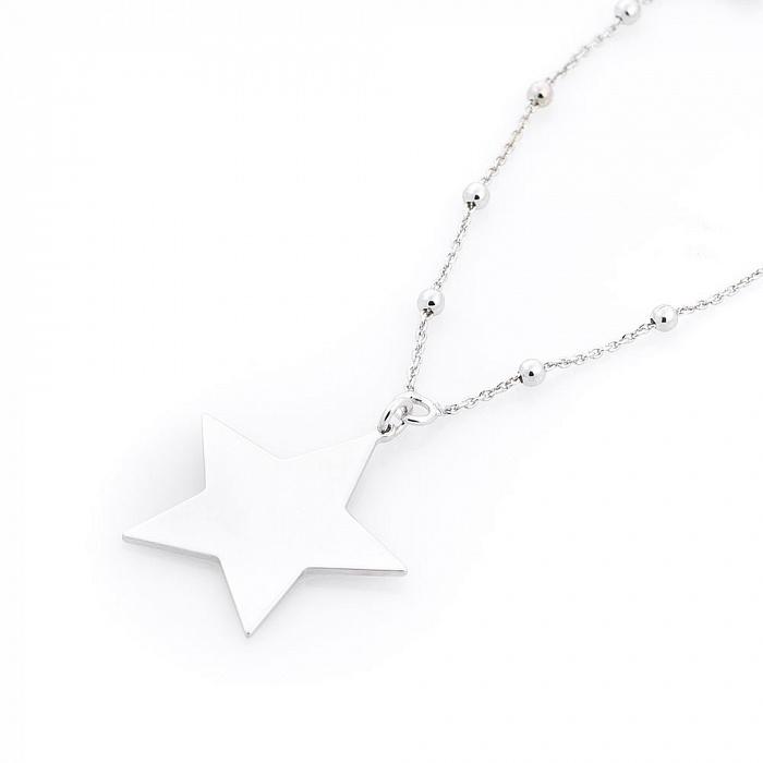 Серебряное колье Полярная звезда 000080294