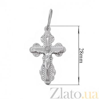 Серебряный крестик Милосердие Господне HUF--311145-Р