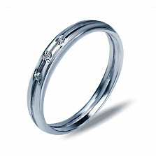 Серебряное кольцо Илона с фианитами