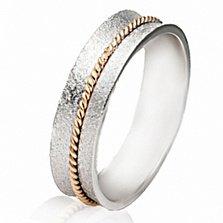 Золотое обручальное кольцо Сердечная привязанность