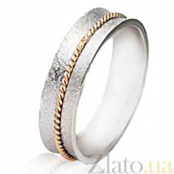Золотое обручальное кольцо Сердечная привязанность SG--4411536