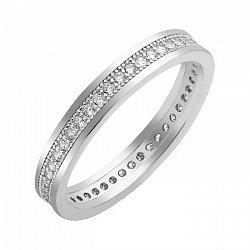 Серебряное кольцо с фианитами 000103102
