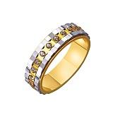 Золотое обручальное кольцо Миллионы счастливых мгновений с фианитами