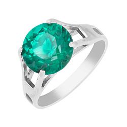 Серебряное кольцо Элис с синтезированным зеленым турмалином