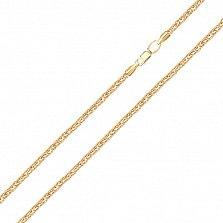 Цепочка из желтого золота Карелия в плетении колосок