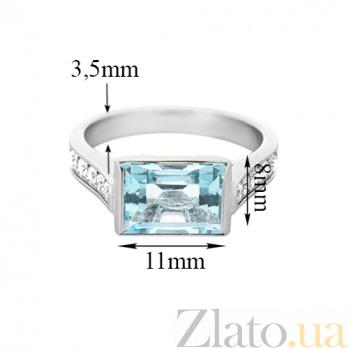 Золотое кольцо с топазом и бриллиантами Рандеву 000029539