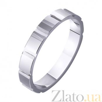 Обручальное кольцо из белого золота Геометрический стиль TRF--4211349