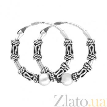 Серебряные серьги Эйсели SLX--С5/320