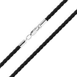 Шелковый шнурок Решение с серебряной застежкой