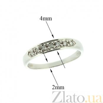 Золотое кольцо в белом цвете с бриллиантами Рати 000021515