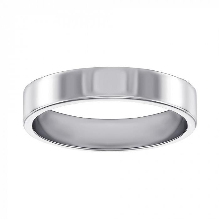 Обручальное кольцо в белом золоте Модная классика 10104б