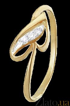 Серебряное кольцо с фианитами Сердечко 000025621