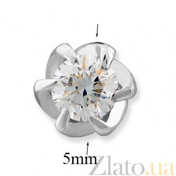 Золотые серьги-пуссеты Утренний цветок VLA--23629