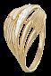 Позолоченное серебряное кольцо с фианитами Миранда 000025633