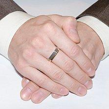 Серебряное кольцо Арсенал с золотом и эмалью