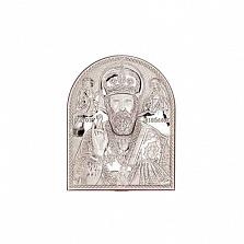 Икона Николай Чудотворец серебро