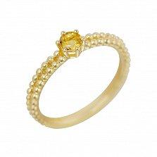 Кольцо в желтом золоте Милагрос с цитрином
