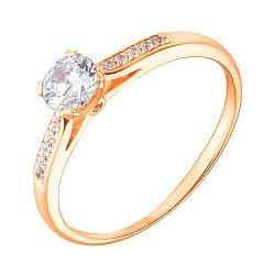 Кольцо в красном золоте с фианитами 000053518