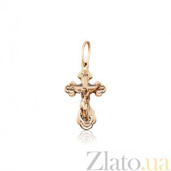 Крестик из красного золота Символ EDM--КР027