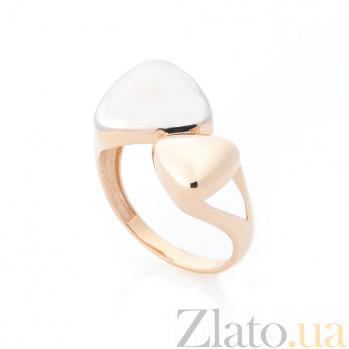 Золотое кольцо Волшебные треугольники с белым родием 000082392