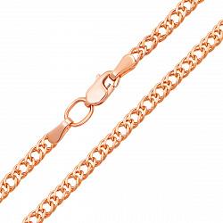 Цепочка из красного золота Ремина в плетении ромб