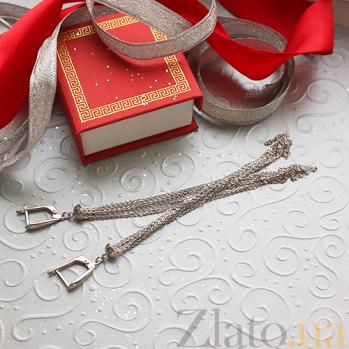Серебряные серьги Беллатрикс TNG--480051С