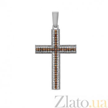 Крестик из белого золота Защитник VLT--ТТ3325