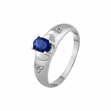 Золотое кольцо История с сапфиром и бриллиантами