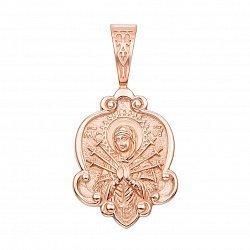Ладанка Божья Матерь Семистрельная из красного золота 000129509
