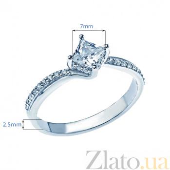 Серебряное кольцо с фианитами Марсель 000026983