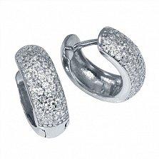 Серебряные серьги Каллея с цирконием