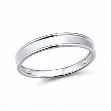 Золотое обручальное кольцо Оскар в белом цвете