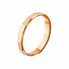Золотое обручальное кольцо Грань любви