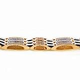 Золотой браслет с ювелирной эмалью Сила