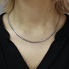 Серебряная цепочка Матиас в плетении снейк, 3мм