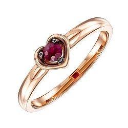 Кольцо из красного золота с рубином 000136539