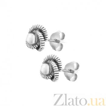 Серьги-гвоздики из серебра Мирти SLX--С5/014