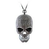Колье из белого золота с бриллиантами Skull Male