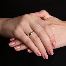 Золотое обручальное кольцо в евро цвете Freestyle