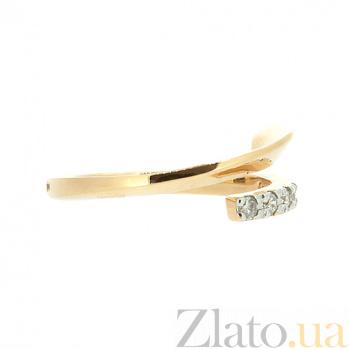 Золотое кольцо в красном цвете с бриллиантами Альнс 000021482