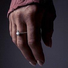 Cеребряное кольцо Victory с чернением
