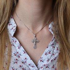 Серебряный крестик Чистая вера