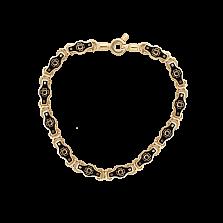 Золотой браслет Caritas с черными бриллиантами и эмалью