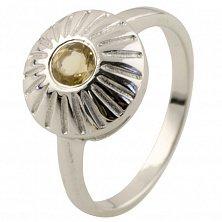 Серебряное кольцо Юлиана с цитрином